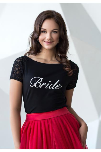 Svatební nápis Bride - tištěný
