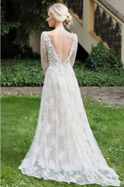 1c1029108f dlouhé celokrajkové svatební šaty