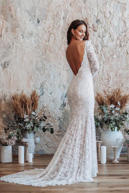 svatební šaty s rukávy ADELE ROSE
