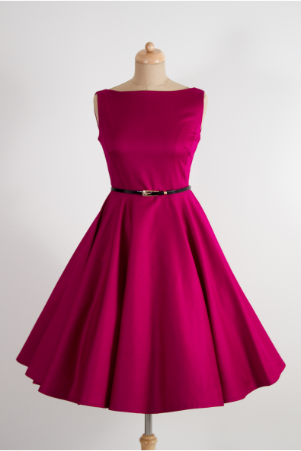 SUSAN vínové retro šaty