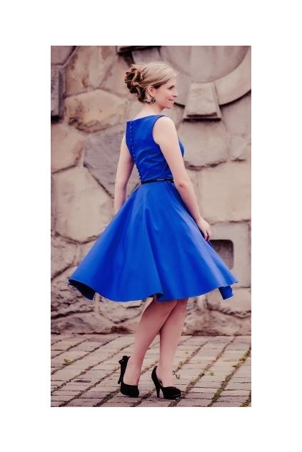 SUSAN modré společenské retro šaty