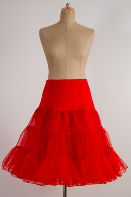 Spodnička ve stylu 50. let červená