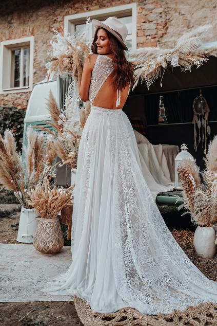 Krajkové boho šaty CAROLINA