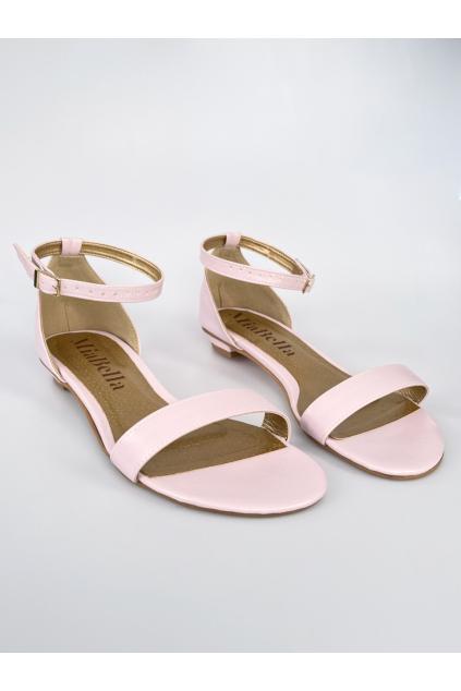 ružové sandálky bez podpatku