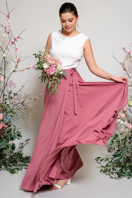 Dlouhá zavinovací sukně - výběr barev růžové