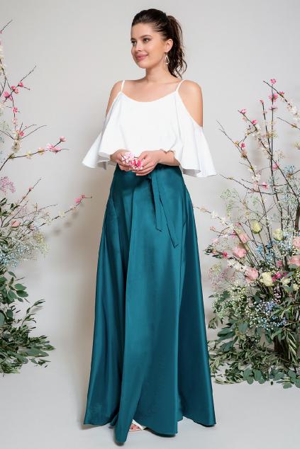 Dlouhá zavinovací sukně - výběr barev zelené
