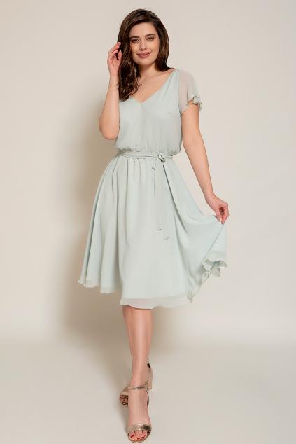 Krátké šifonové šaty s rukávky