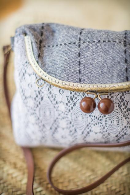 Vintage vlněná kabelka