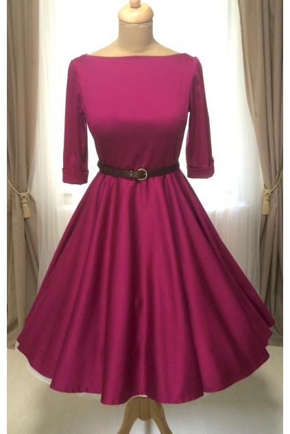 ADELE retro šaty vínové - více barev