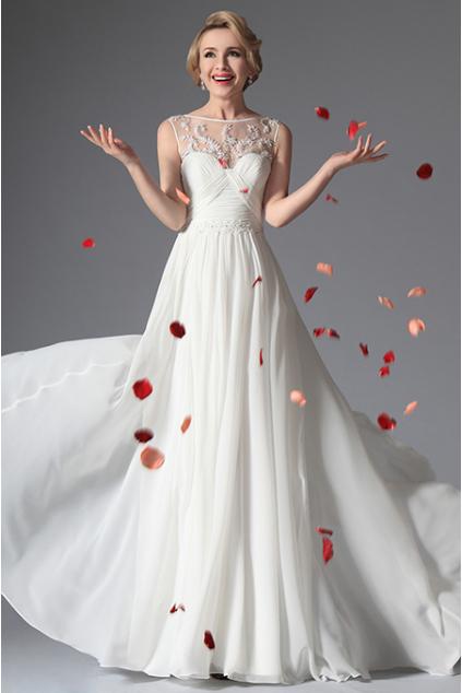 Dlouhé svatební retro šaty bez rukávů, vel. 40