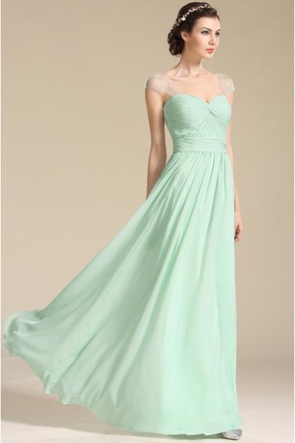 Mint zelené společenské šaty na ramínka, vel. 38