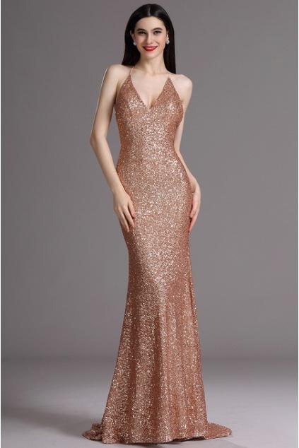 Plesové šaty s flitry zlaté