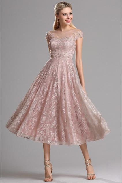 Krátké plesové retro šaty krajkové, vel. 40