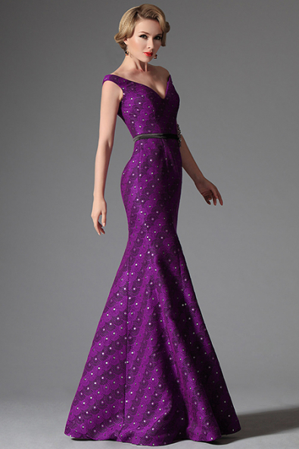 Plesové šaty s V výstřihem zdobené kamínky, vel. 44