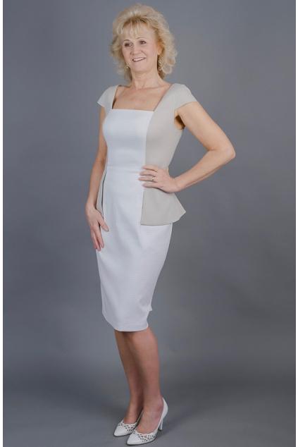 890675ea192 Pouzdrové šaty s kabátkem