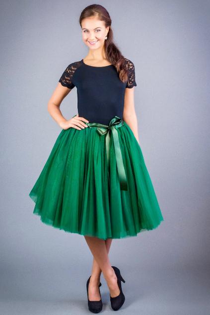 tutu sukne smaragdova