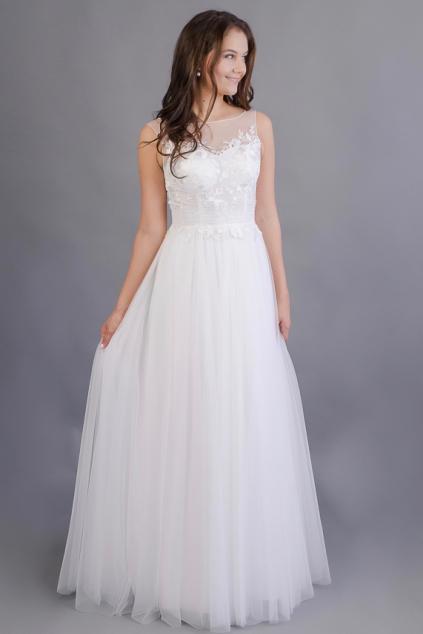 92904550f74 Barevné svatební šaty s bavlněnou vintage krajkou - MiaBella
