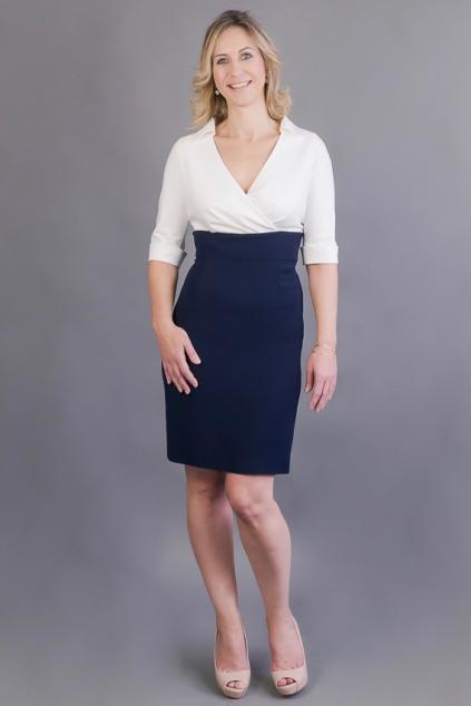 dc88276038f Košilové šaty Margaret s pouzdrovou sukní