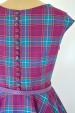 CHANTE retro šaty kostka fialová - více barev