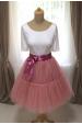 TUTU sukně s volánem - pudrová růžová