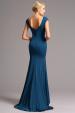 Vysoce elegantní modré plesové šaty