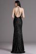 Plesové šaty s flitry černé