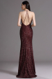 Plesové šaty s flitry hnědé