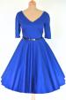 Modré společenské šaty s rukávy