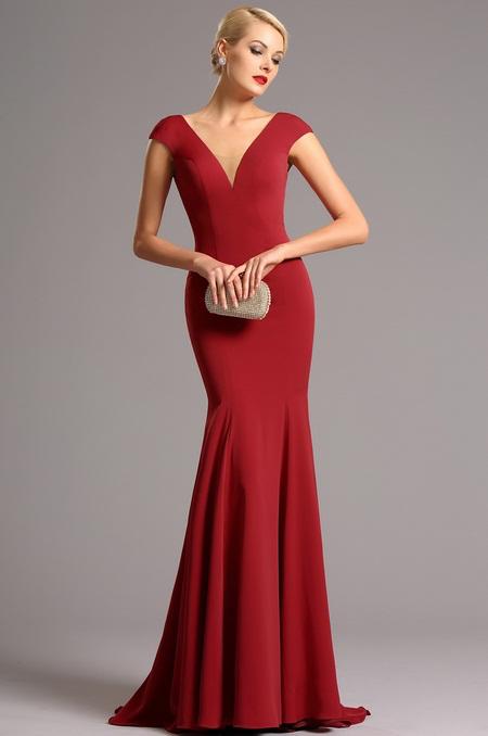 Vysoce elegantní plesové šaty červené jako na obrázku, 38