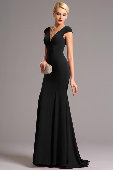 Vysoce elegantní plesové šaty černé jako na obrázku, 38