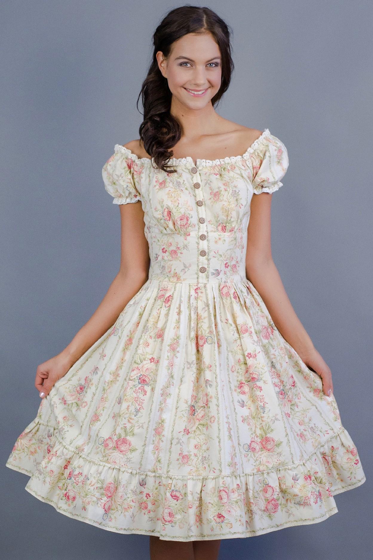 Letní květinové boho šaty Barva jako na obrázku, 40