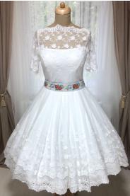 b5ba538c5c1 OBARVENÍ MODRÁ - folklórní svatební šaty - MiaBella