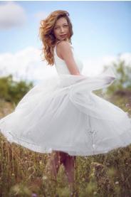 Dámská tylová TUTU sukně bílá