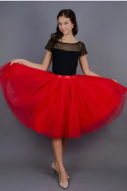 Dámská tylová TUTU sukně červená