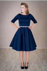 ADELE retro šaty modré denim