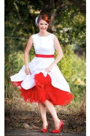 SUSAN svatební retro šaty bílé