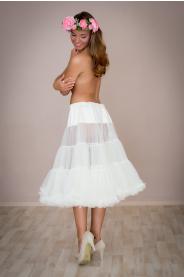 Objemová spodnička krémová dlouhá