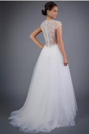 Svatební šaty s krajkovými zády