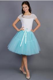 TUTU sukně s volánem - tyrkysová
