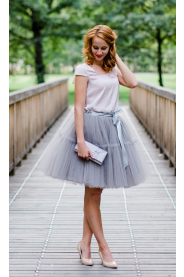 TUTU sukně s volánem - šedá