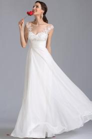 Jemné svatební šaty se zdobeným živůtkem