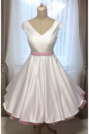 Krátké svatební šaty LOREN s V výstřihem