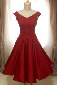 Krátké společenské šaty MILLA s krajkovým živůtkem - více barev