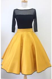 Kolová sukně hořčicová - více barev