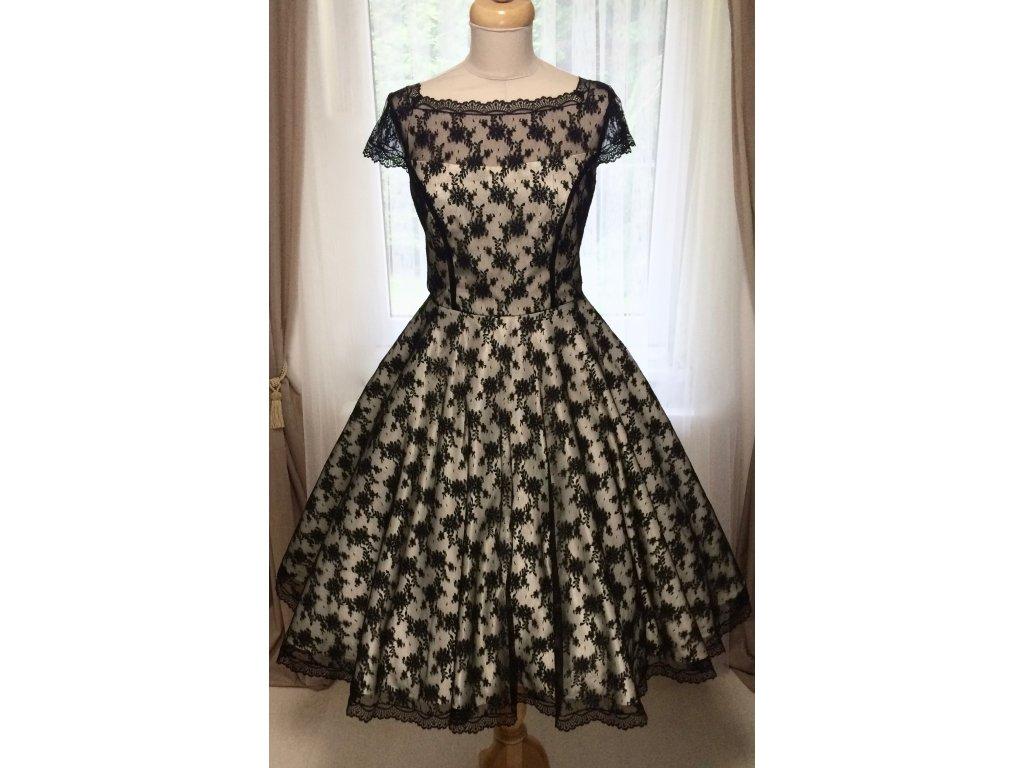 Vintage romantikus ruha fekete csipkével és korzettel - több színben ... f223ed6b99