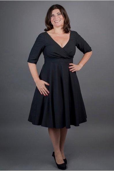 MARGARET fekete ruha áthajtott felsőrésszel 88741058f3