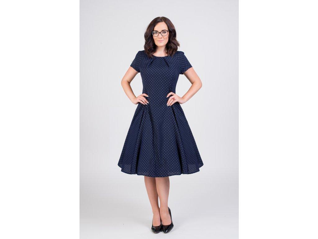LAURA vlnené šaty s jemnými bodkami - MiaBella 032950f9ed0