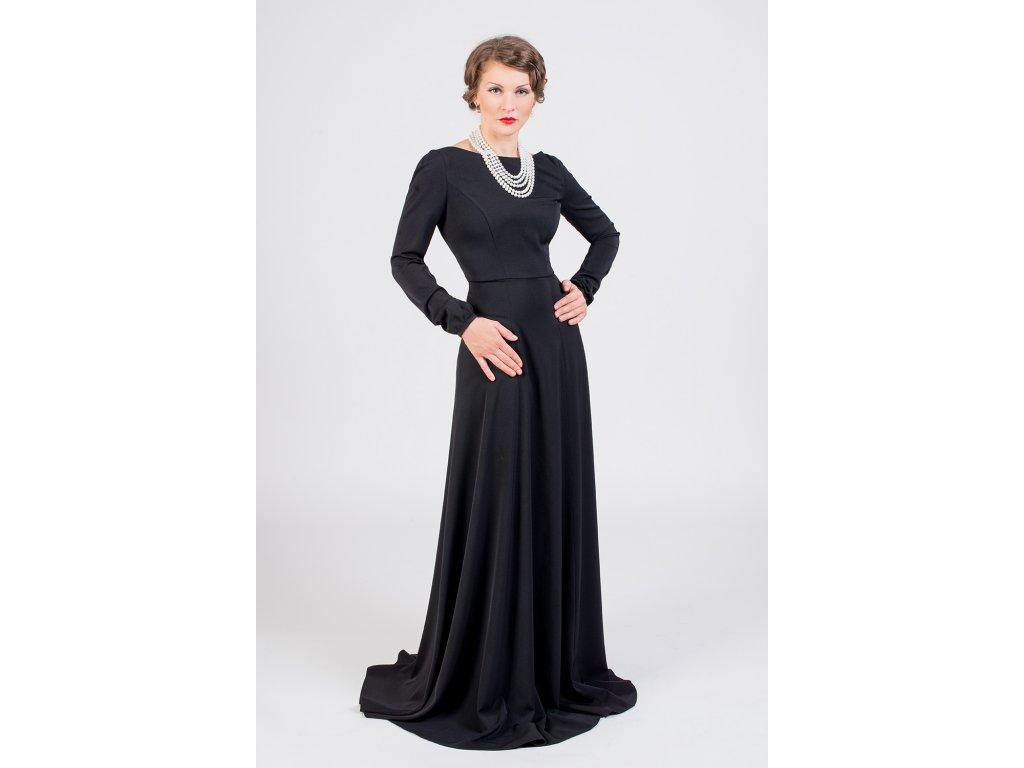aeae20d2a Dlhé spoločenské šaty čierne · Dlhé spoločenské šaty čierne