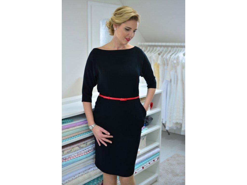 Čierne pouzdrové business šaty - MiaBella 66745455204