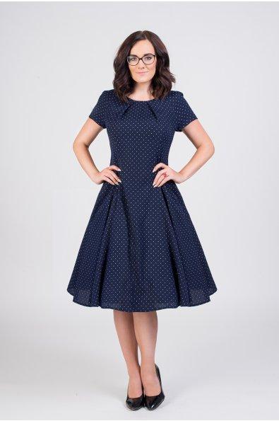 LAURA vlnené šaty s jemnými bodkami